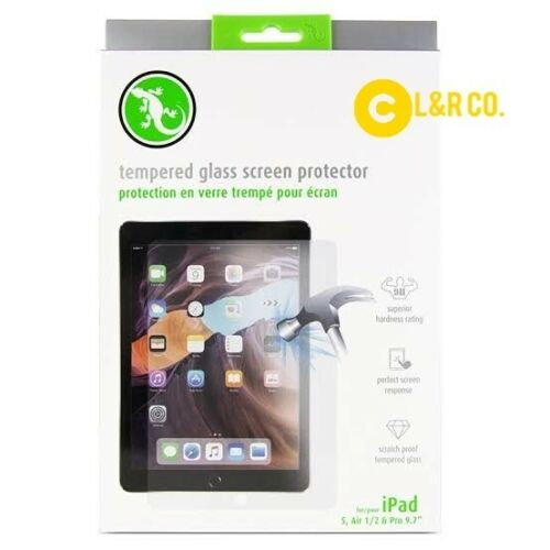 """Gecko Tempered Glass Screen Protector for iPad 5 6, Air 1+2 iPad Pro 9.7"""""""