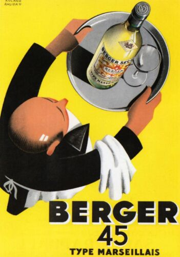 "Berger 45 French 1935 Vintage Poster Printed in France Re Issued 20"" x 28"""
