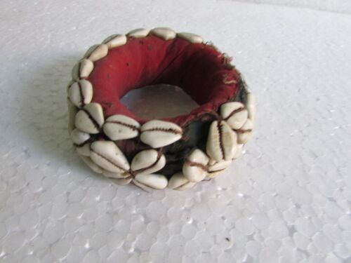 Indian Old Handmade Cloth Shell /conch Work Woman Head Pot Cloth Round Ring