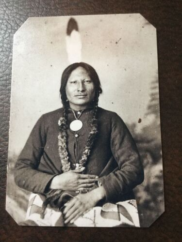 Native American Rain In The Face tintype C316RP