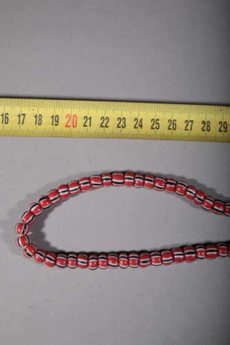 Art African Beads African Glass Red