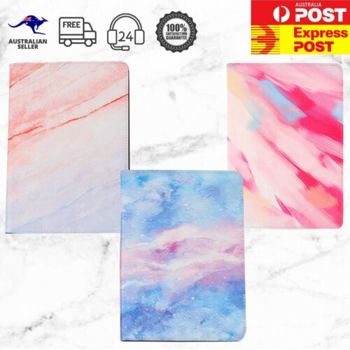 "Pink Unicorn Galaxy Marble Brush iPad mini 1 2 3 4 5 Air 9.7"" 10.2"" Stand Cover"