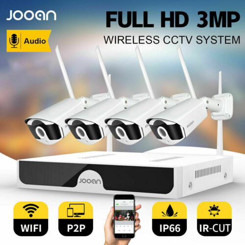 JOOAN 8CH 1296P Wireless Home CCTV Security Camera System IP WiFi NVR Outdoor IR