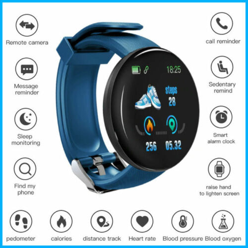 D18 Smart Watch Montre Sport Fitness Tracker Bluetooth SIM Slot Android iOS