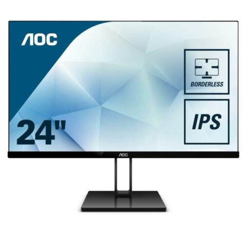 "AOC 24V2Q 24"" FHD 75Hz LED LCD FreeSync Gaming Monitor 16:9 DP Full HD HDMI IPS"