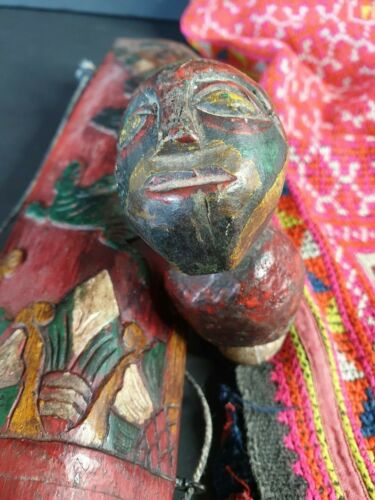 Old Borneo Dayak Carved Lime Holder …beautiful collection piece