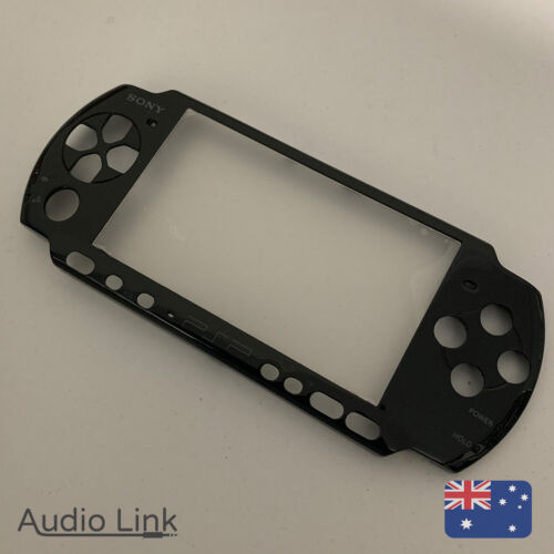 Sony Playstation Portable PSP 3000 Front Cover Faceplate Shell Housing Black