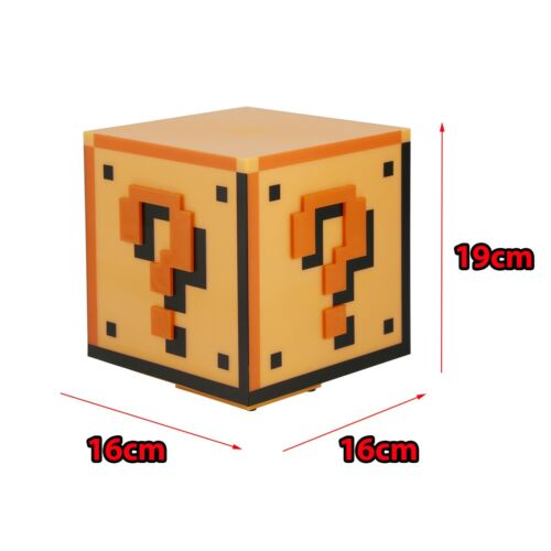 Official Nintendo Super Mario Bros Collectors Edition Question Block Light Lamp