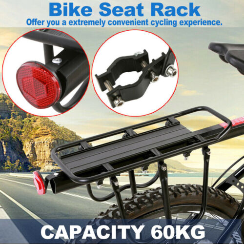 Sturdy Bicycle Mountain Bike Rear Rack Seat Post Mount Pannier Luggage Carrier