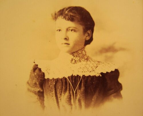 Victorian Antique Cabinet Card Photo of a Young Girl Woman