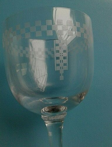 FRANK LLOYD WRIGHT AUTHENTIC IMPERIAL HOTEL WINE GLASS CA 1925- 1950 N2