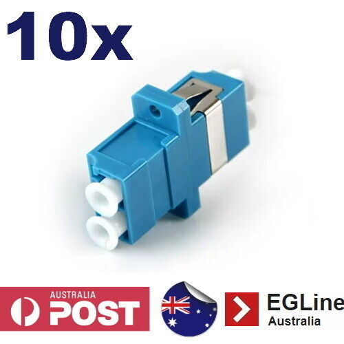 10x Fibre Optic LC connector Singlemode thru-connector Duplex LC Coupler Joiner