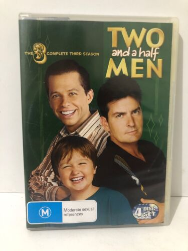 Two And A Half Men The Complete Third Season 4 Disc Set DVD Fast & Free Shipping