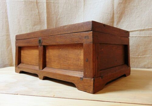 Antique Gothic Revival Box from Walnut and Pine likely Southern Circa 1890