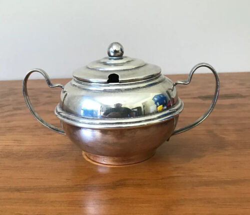 Mayfair A1 Silver Plated Double Handle Sugar Bowl