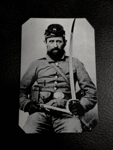 tintype of civil war soldier with pistol and sword Civil War tintype C1017RP