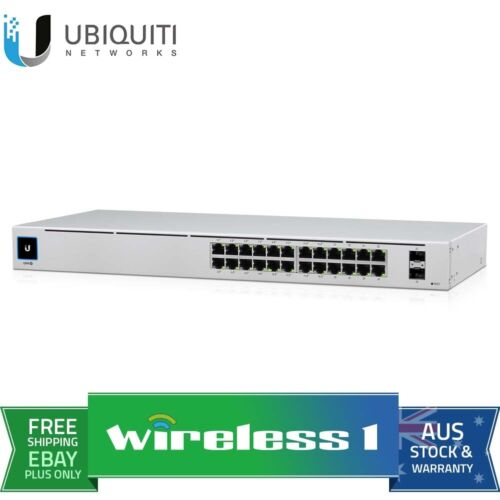 Ubiquiti UniFi USW-24-POE 24 Port Touch Display Managed POE + Fanless Switch