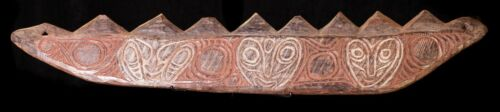 Early Sawos lintel with incised design New Guinea