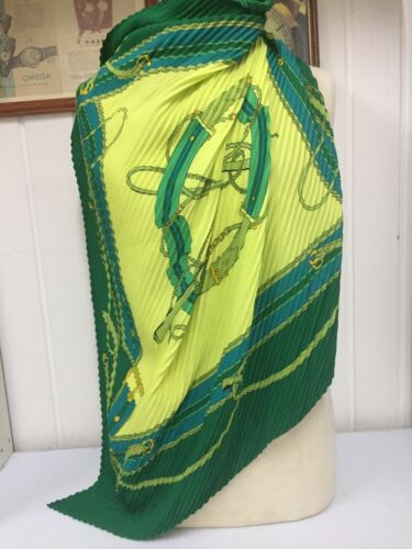 Foulard Vintage LANCOME PARIS Made In Italy 100% Poliestere