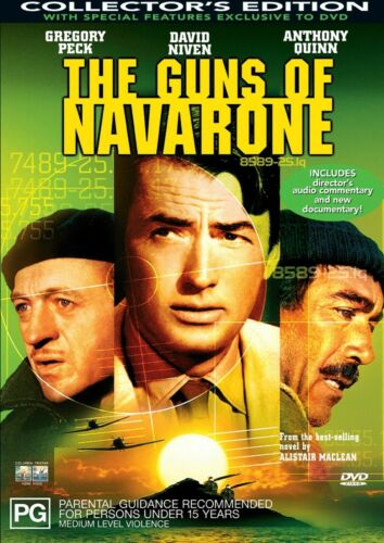 THE GUNS OF NAVARONE - NEW & SEALED DVD (GREGORY PECK) COLLECTOR'S EDITION