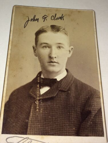 Rare Antique Victorian American Fashion Young Man, John F. Clark MA CDV Photo!