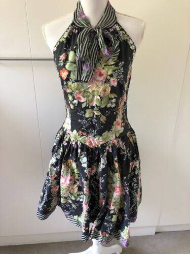 Anna Sui Summer Dress With Open Back Size US4 AU10
