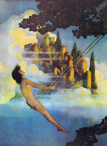 """""""The Dinky Bird"""" by Maxfield Parrish"""