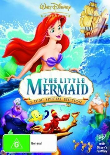 THE LITTLE MERMAID (2 DISC - SPECIAL EDITION DVD SET SEALED + FREE POST)