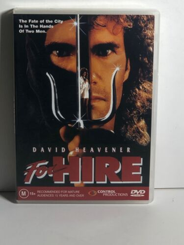 For Hire a.k.a. Lethal Ninja (1991) DVD Region 0/ALL Pal, David Heavner rare
