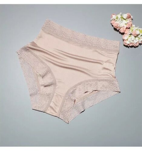 Pure Natural Silk Panties Briefs Lingerie Lace Underwear Knicker High Waist Sexy <br/> FREE BRONZE POUCH / AU STOCK FAST DELIVERY