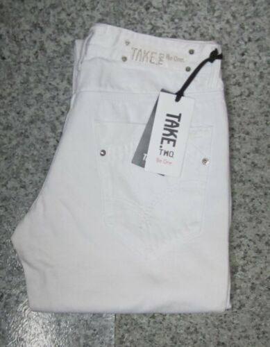 Take-Two White Limited Edition Womens Denim Trousers Jeans >W31/L35