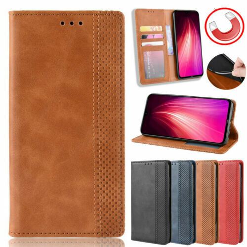 Genuine Leather Flip Wallet Card Slot Pocket 360 Case Cover For Smart Cellphones