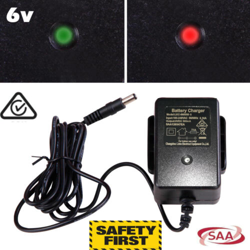 6V - 500mA Battery Charger for Kids toys Cars Motorcycle - 6V Power Adaptor