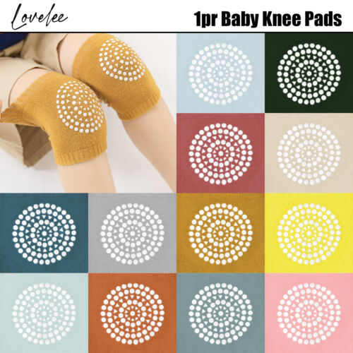 1pr Baby Knee Pads Infants Toddlers Safety Soft Comfy Breathable Crawling
