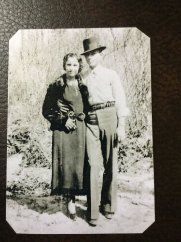 Bonnie And Clyde tintype C777RP