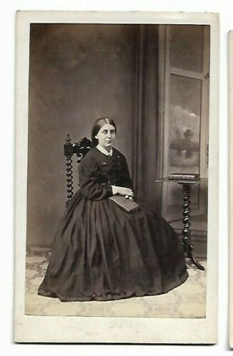 Woman in a Lovely Victorian Dress; Photo by W Cooper, Birmingham (4668)