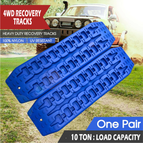 Pair Recovery Tracks Sand Track 2pc 10T Sand / Snow / Mud Trax 4WD Blue AU