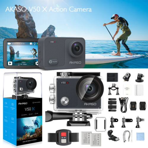 2020 NEW AKASO V50X Sport Action Camera 4K HD Wifi with EIS Cam Touch Screen AU