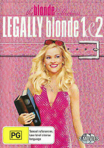 LEGALLY BLONDE 1 & 2 (2 DISC DVD SET very good condition  t83