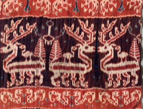 ANTIQUE SUMBA ISLAND HINGGI IKAT CLOTH INDONESIA