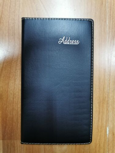 Black Cover Address Book A-Z Phone E-mail Office Telephone 10cm x 18cm