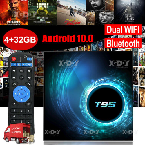 2020 T95 Android 10.0 4+32G 6K Quad Core Smart TV BOX WIFI 64Bit CPU Home Player