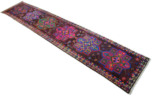 3x15 Rug Runner Kurdish Rug Hand Knotted COLORFUL Long Runner Actual 3x15.5 ft