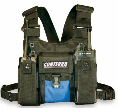 Conterra Double Adjusta-Pro II Radio Chest Harness with Pouch & Light
