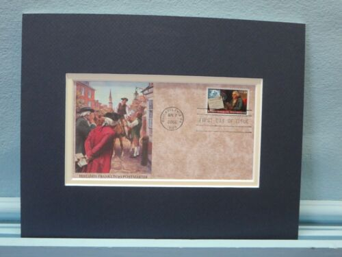 Ben Franklin - The First Postmaster General  & First day Cover of his  stampReenactment & Reproductions - 156378