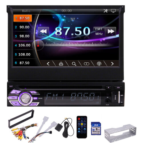 Single Din Car Stereo Radio MP5 Player Bluetooth GPS Navigation with Map+Camera