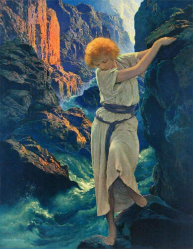 """vintage art """"The Canyon"""" by  Maxfield Parrish"""