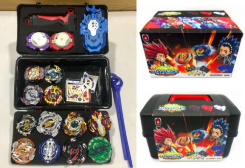 Beyblade burst 17 pcs battle launcher set with carry case