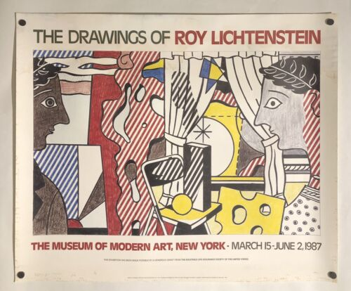 Original Poster THE DRAWINGS OF ROY LICHTENSTEIN 1987 MOMA Pop Art Exhibition