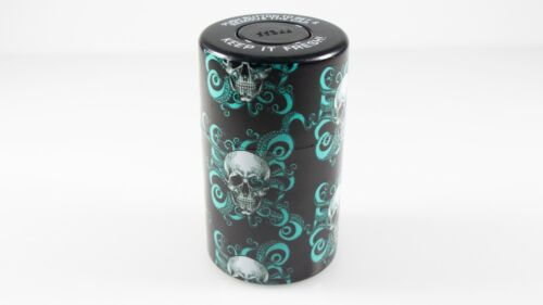 Skull Vacuum Sealed Herb Stash Jar Container Airtight Smell Proof Storage